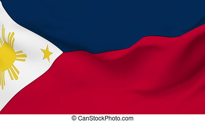 Flag of Philippines - Flag of the Philippines waving in the...