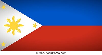Flag of Philippines.
