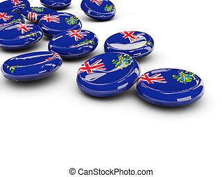 Flag of pitcairn islands, round buttons