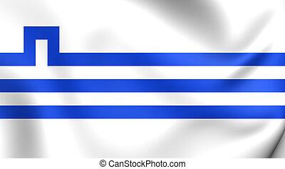 Flag of Podgorica, Montenegro.