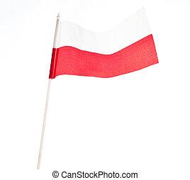 Flag of Poland. Close up.