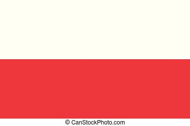 Flag of Poland in official proportions and colors, vector