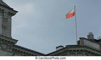 Flag of Poland on Pole