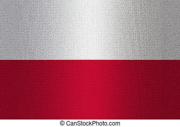 Flag of Poland on stone