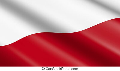 Flag of Poland (seamless loop)