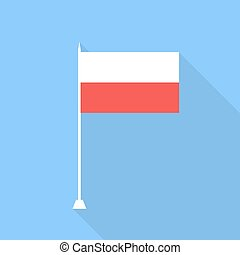 Flag of Poland. Vector illustration .