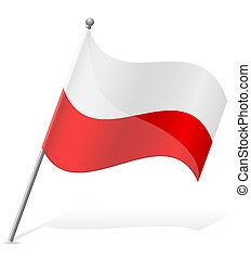 flag of Poland vector illustration