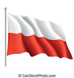 Flag of Poland - Vector illustration of flag of Poland