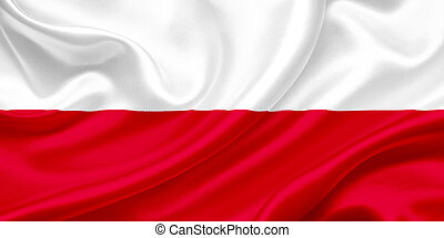 Flag of Poland Waving In The Wind