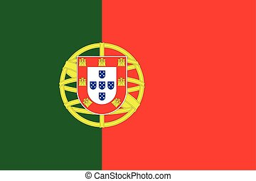 Flag of Portugal in correct proportions and colors