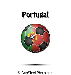 Flag of Portugal in the form of a soccer ball