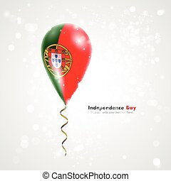 Flag of Portugal on balloon