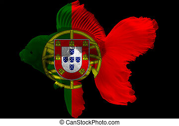 Flag of Portugal on goldfish