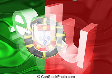 Flag of Portugal wavy education - Flag of Portugal, national...