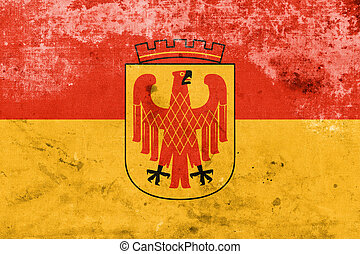 Flag of Potsdam, Germany, with a vintage and old look