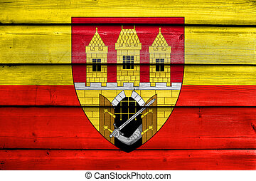 Flag of Prague with Coat of Arms (Escutcheon only), Czechia,...