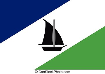 Flag of Puerto Montt, Chile. Vector Format