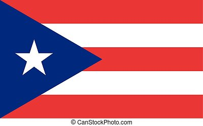Flag of Puerto Rico - Puerto Rico flag vector illustration....