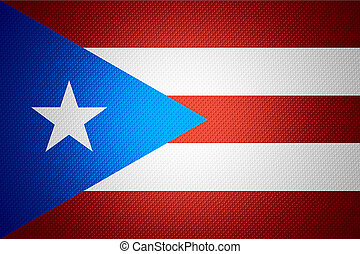 flag of Puerto Rico - Puerto Rico flag or banner on abstract...