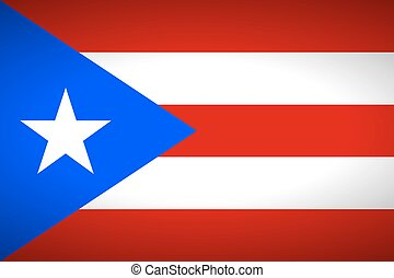 Flag of Puerto Rico. Vector illustration.