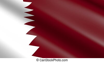 Flag of Qatar (seamless loop)