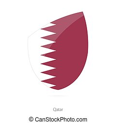 Flag of Qatar.