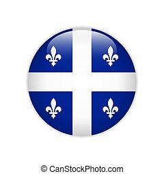 Flag of Quebec button