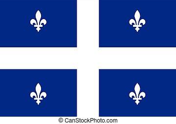 Flag of Quebec, Canada. Vector Format