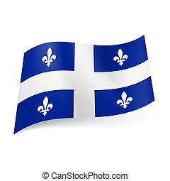 Flag of Quebec. - Flag of Quebec, province of Canada:...