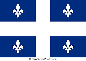 Flag of Quebec in correct proportions and colors