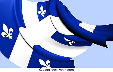 Flag of Quebec Province, Canada.