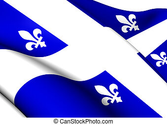 Flag of Quebec Province, Canada.