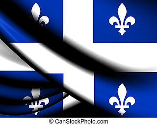Flag of Quebec Province