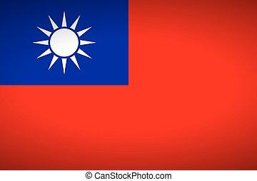Flag of Republic of China. Vector illustration.