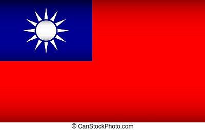 Flag of Republic of China. Vector illustration. Patriotic ...