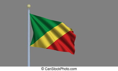 Flag of Republic of Congo with alpha matte