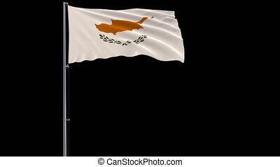 Flag of Republic of Cyprus, 4k prores 4444 footage with alpha transparency