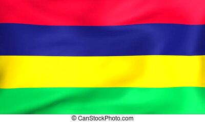 Flag Of Republic of Mauritius