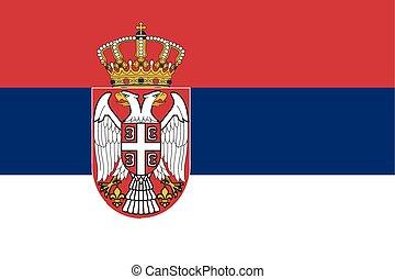 Flag of Republic of Serbia