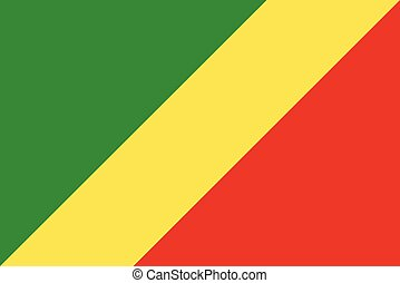 Flag of Republic of the Congo a vector illustration