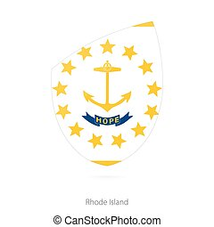 Flag of Rhode Island.