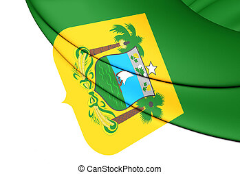Flag of Rio Grande do Norte State, Brazil.