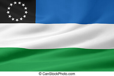 Flag of Rio Negro - Argentina - High resolution flag of the...