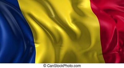 Flag of Romania - Beautiful 3d animation of The Romania flag...