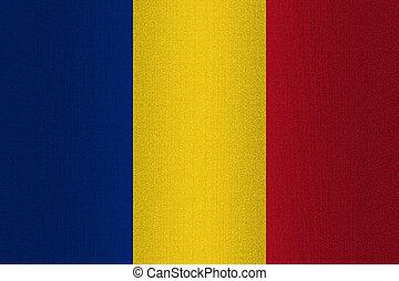 Flag of Romania on stone