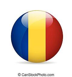 Flag of Romania. Vector illustration.