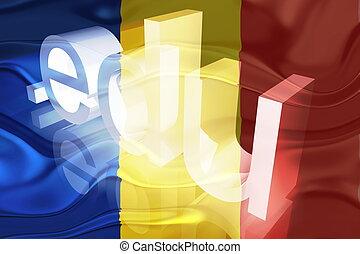 Flag of Romania wavy education - Flag of Romania, national...