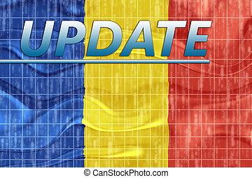 Flag of Romania wavy news - News information splash Flag of ...