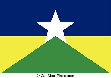 Flag of Rondonia State, Brazil. Vector Format