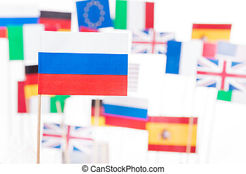 Flag of Russia against EU member-states flags